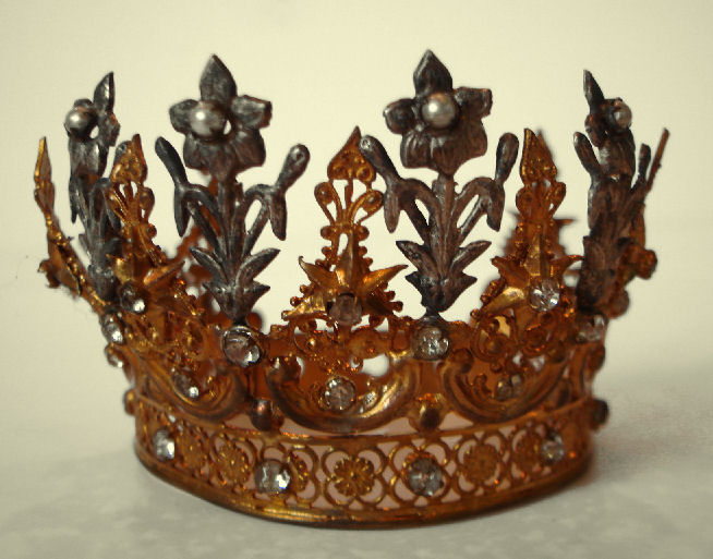 Antique Fleurs & Flowers French Crown Incredible-