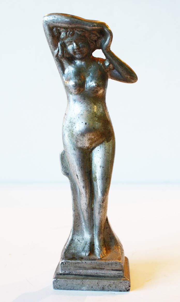 Antique Art Deco Nude Statue Paper Weight-