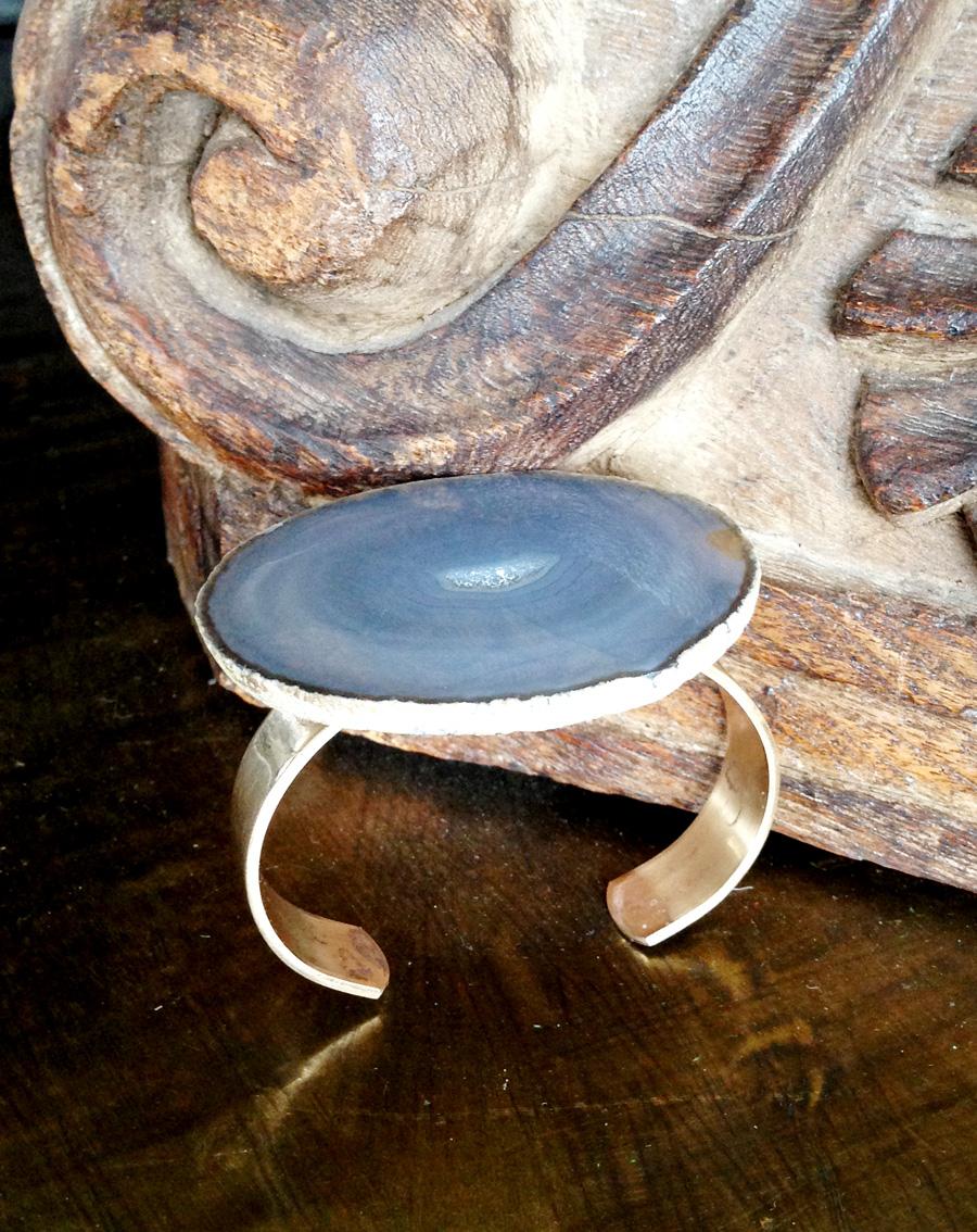 Agate Cuff Bracelet- Rock It Gypsy Designs-