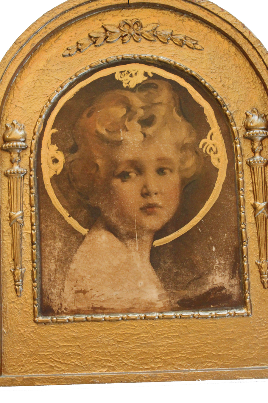 """""""The Light of the World"""" Antique Barbola Framed Picture-"""