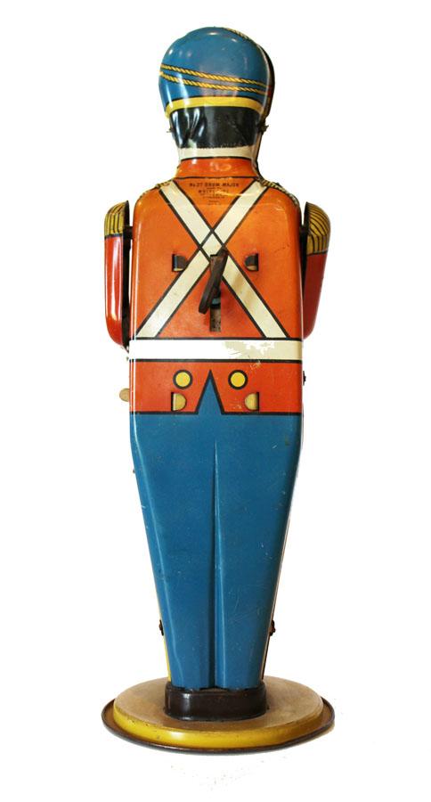 1930s Vintage Windup Tin Toy Soldier Drum Major-