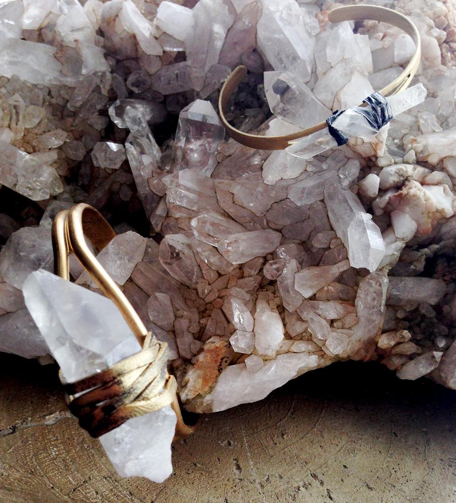 Rock Quartz Crystal Clear Bracelet- Rock It Gypsy Designs-