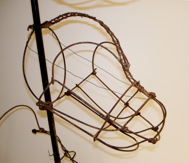 Antique French Wirework Dog Muzzle Display Handmade Circa 1840s-