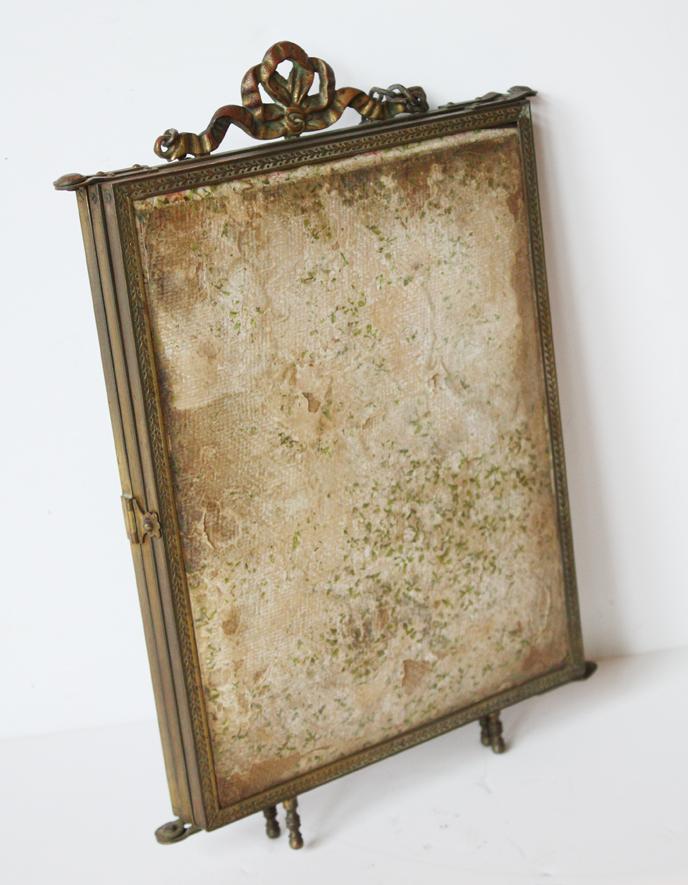 French Antique Salon Tri-Mirror Incredible-