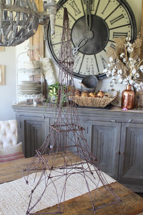 Antique French Wire Handmade Eiffel Tower Xlrg-