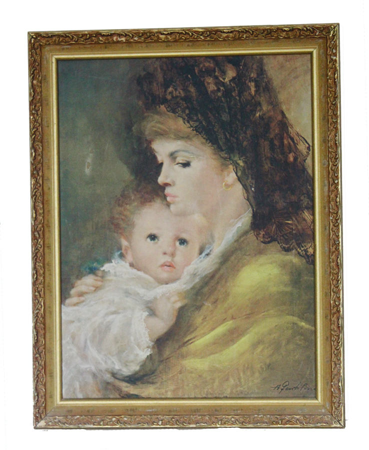 Beautiful Framed Vintage Framed Canvas Print/Painting-