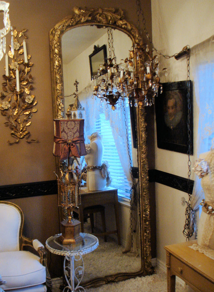 1800s Antique Xlrg Pier Paris Salon Mirror Killer Details-