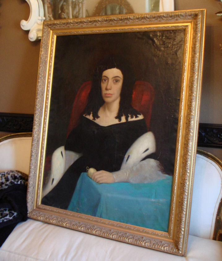 Antique 1800s Original Oil Painting Beautiful-