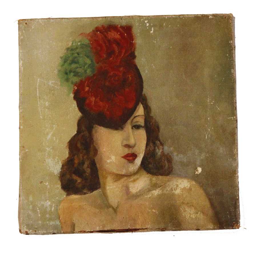 Antique Early 1900s French Flapper Moulin Rouge
