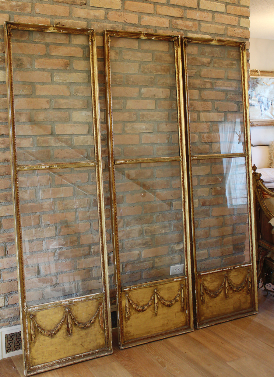 Antique French Barbola Dressing Screen Early 1900s