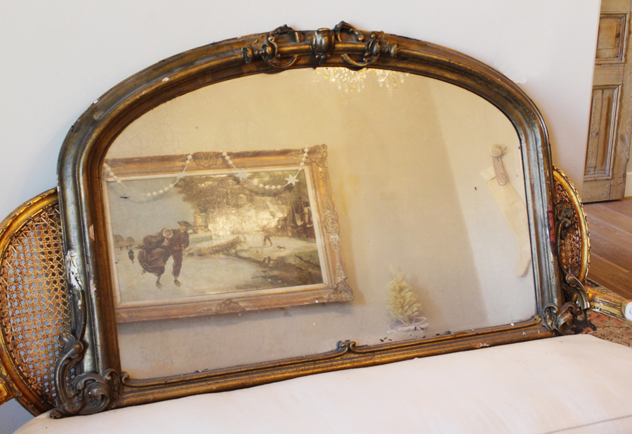 Antique French Gorgeous Mantle Mirror Early 1900s