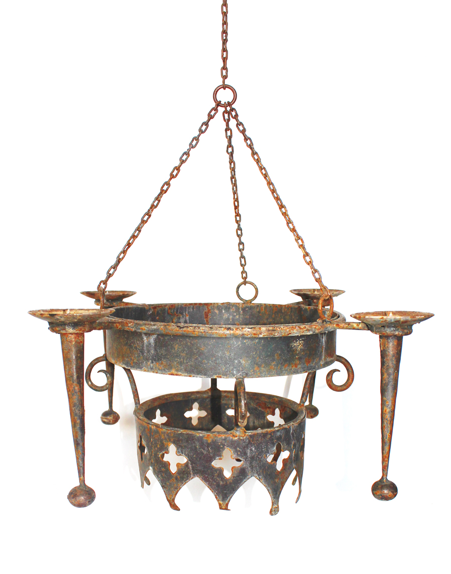 French Antique Rare Crown Chandelier Incredible Patina My Fav-