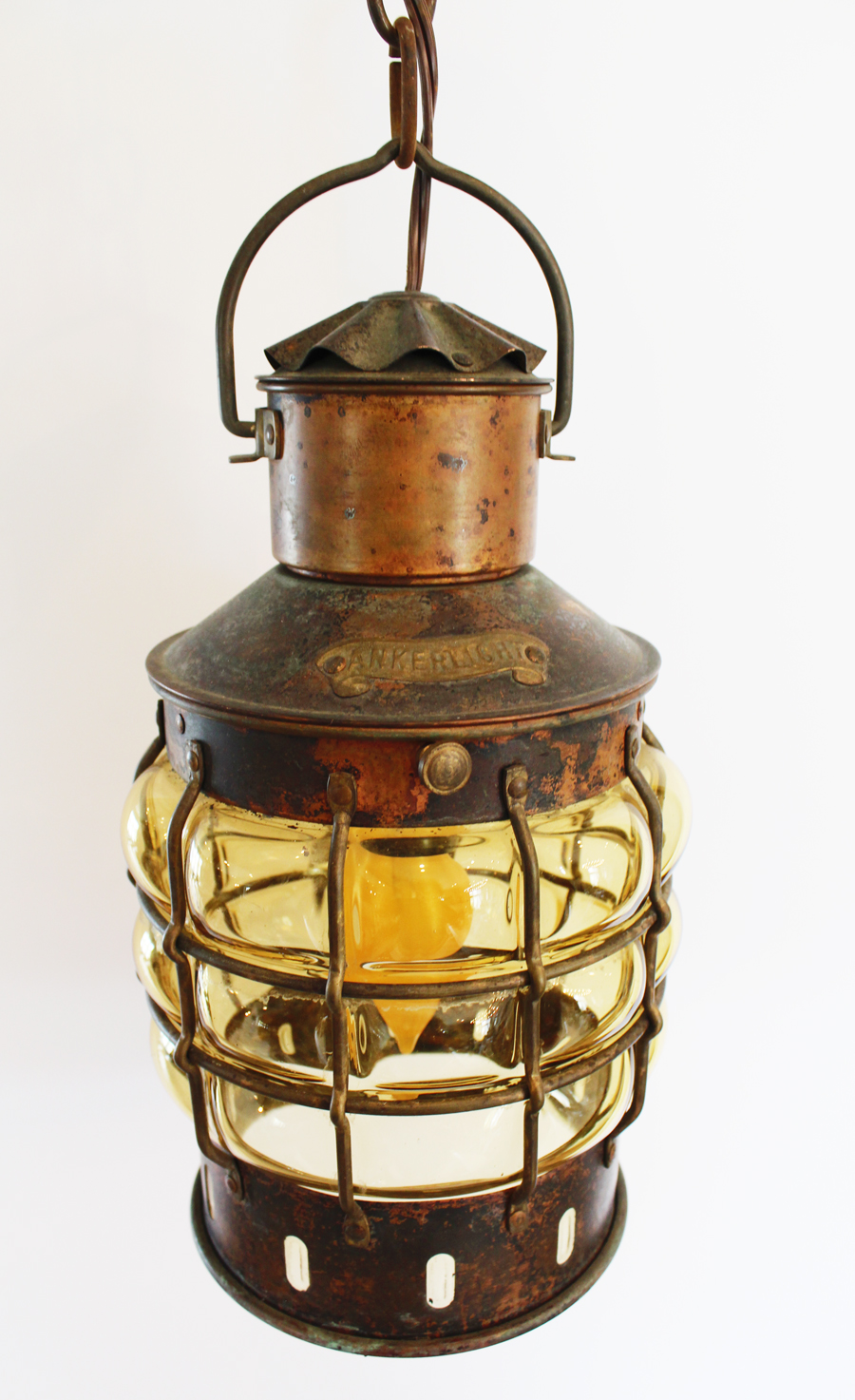 1800s Antique Lantern Pendant Light