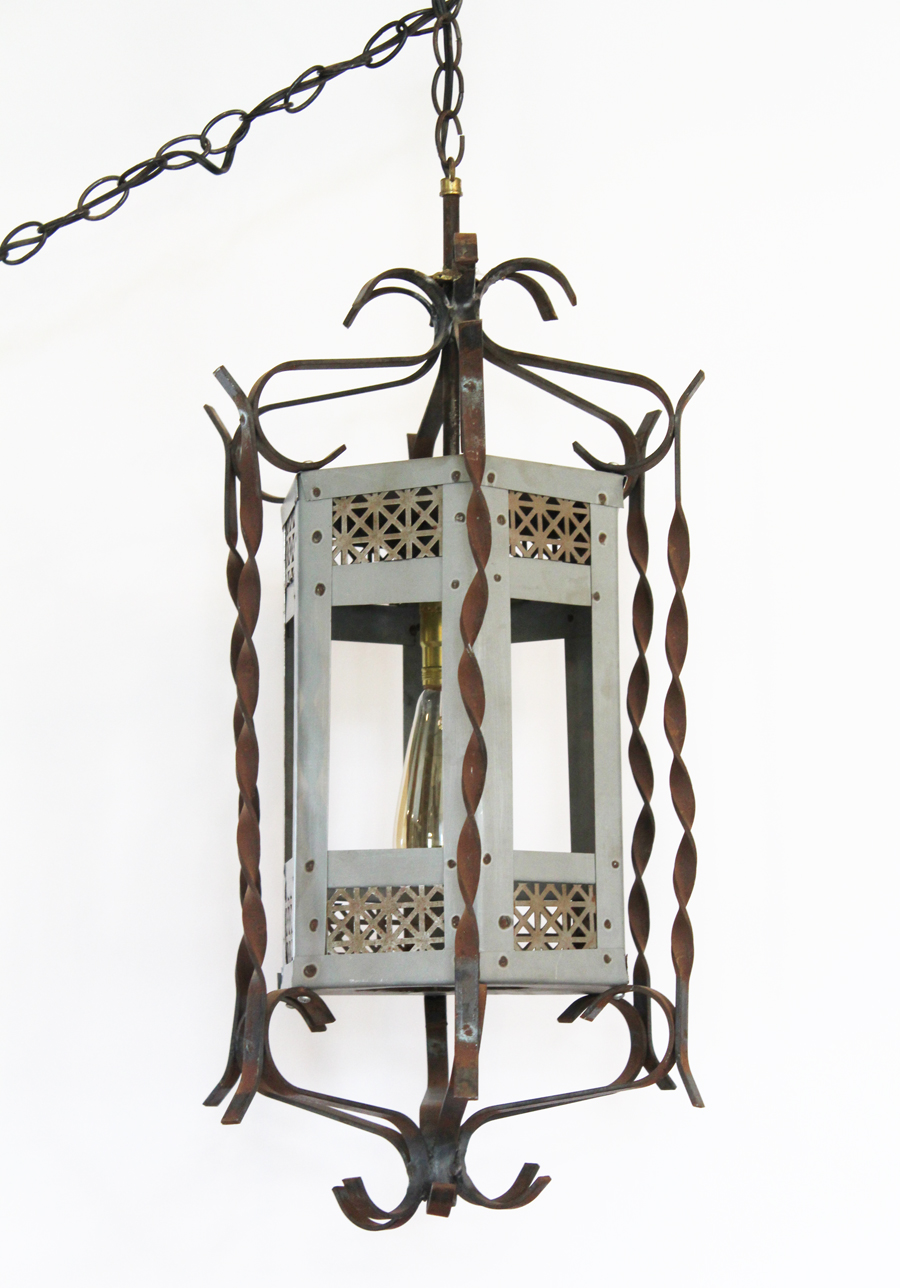 Antique Silver/Wrought Iron Pendant