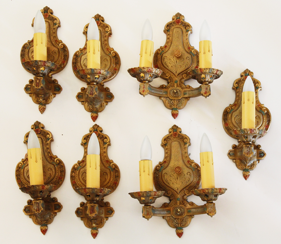 Set of Seven Victorian Wall Sconces