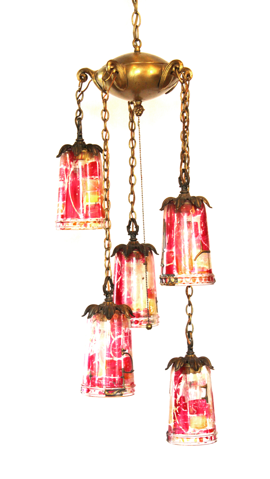 Antique Pendant Hanging Swag Chandelier