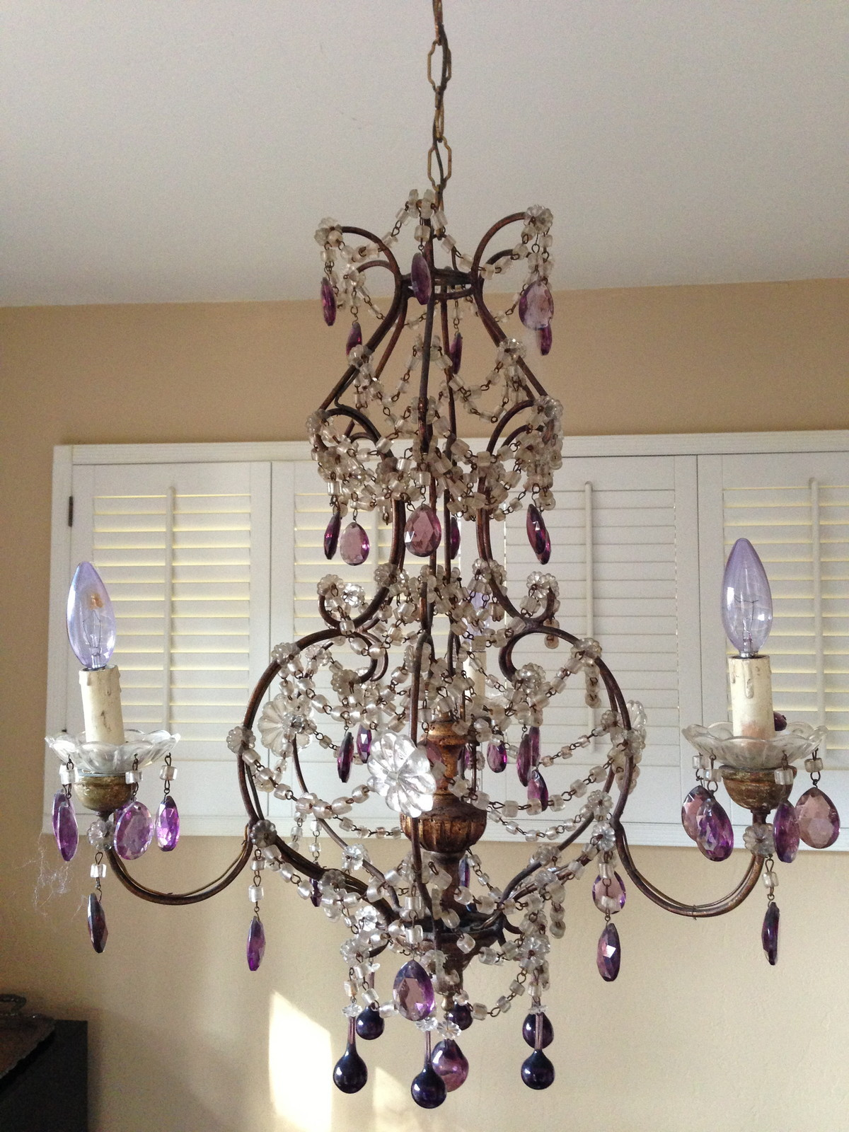 Antique Italian Beaded Chandelier Incredible My Fav-