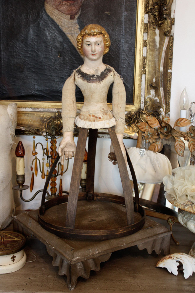 Rare Antique Santos Cage Doll 18th C.-