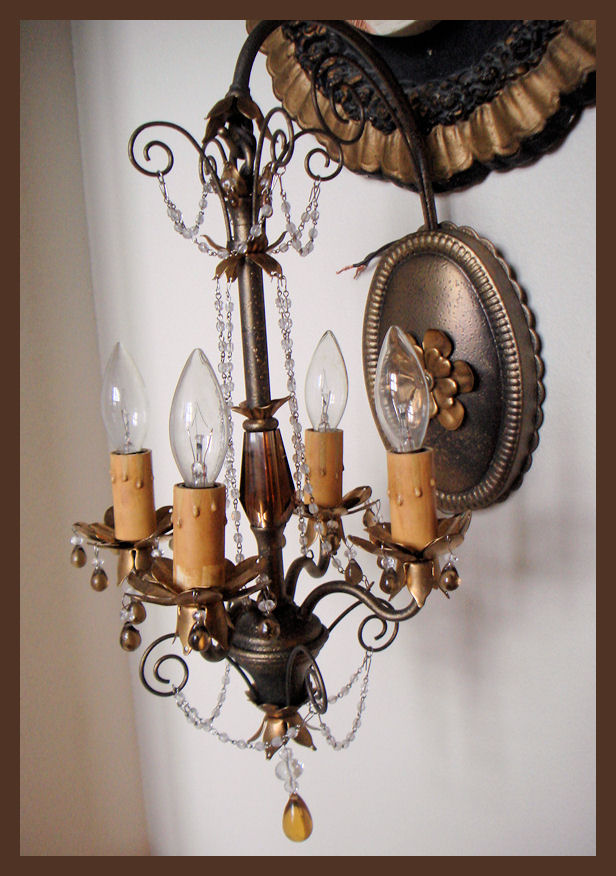 Vintage Schonbek Wall Chandelier Gorgeous Details-Antique Chandelier, Chandelier, Antique, Vintage, Vintage Chandelier, French, Gilt, Crystal, Bronze, Beaded, Italian, European, French Country, Victorian, Prisms, Brass, Italy, Italian Tole, Shabby Chic Chandelier, Rachel Ashwell, French Home Decor, Designer Decor, Paris Flea Market, Paris Couture Antiques, Paris Antiques, France Antiques, Paris Shopping, Wall Sconces, Antique Sconces, Rock Crystal, Lamp, Floor Lamp