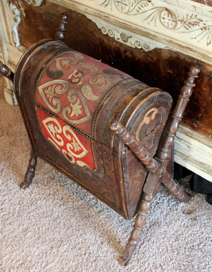 French Antique Primitive Dome Trunk