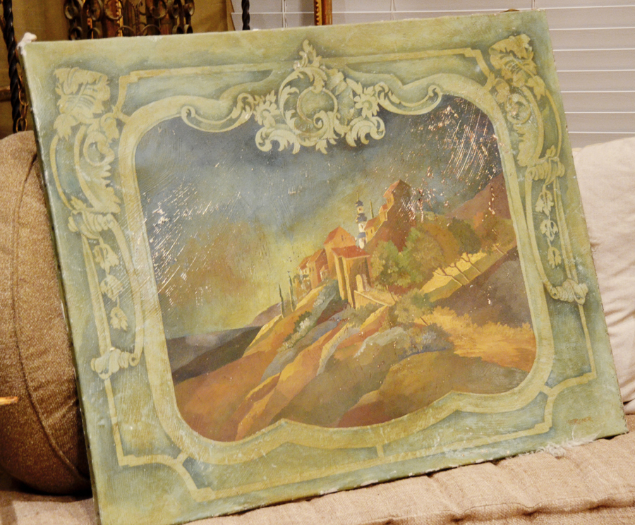 Antique Incredible Architectural Painting Mercier