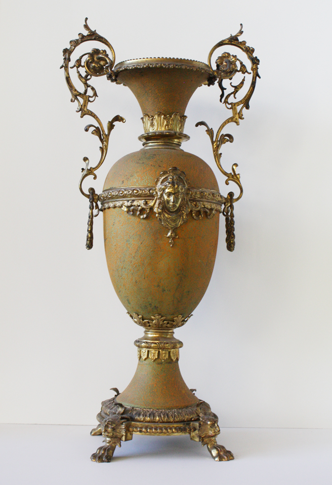 Art Nouveau French Antique Xlrg Urn Incredible Patina-