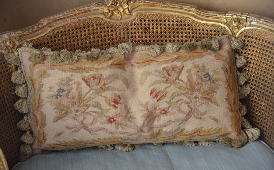 Breathtaking French Aubusson Needlepoint Pillow