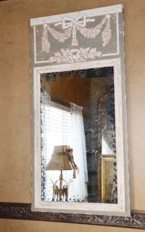 Gorgeous Ribbon & Bows Vintage Style Trumeau Mirror-