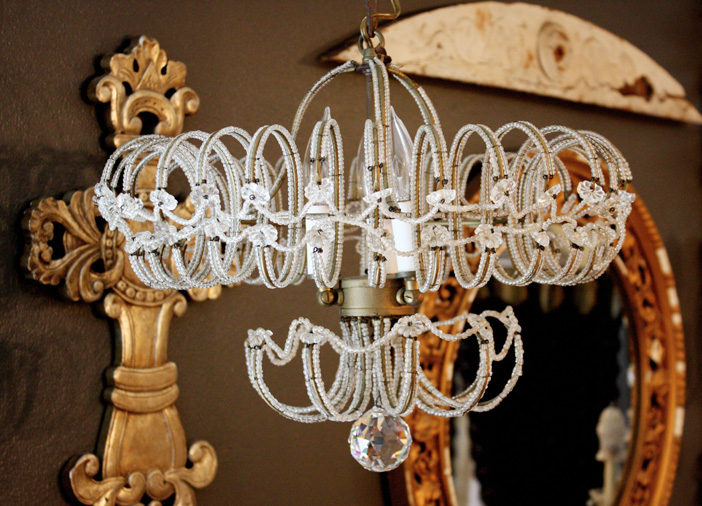 Rare Italian Beaded Chandelier 1920s Gorgeous