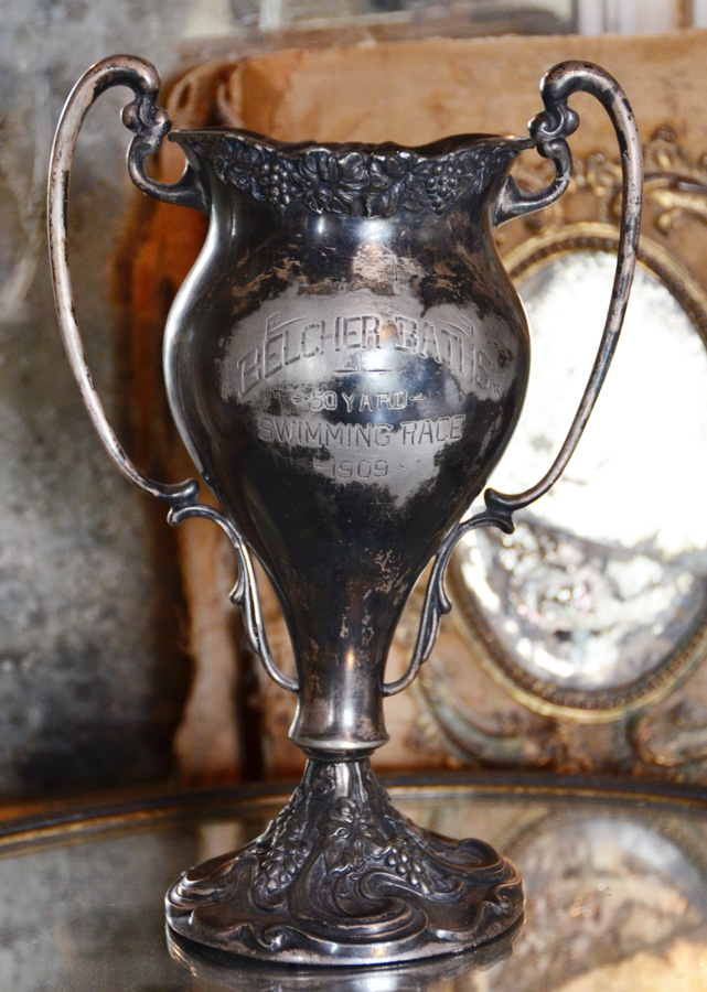 Rare 1909 Swimming Beauty Trophy Loving Cup-
