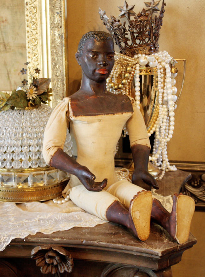 Rare 18th C Carved Blackamoore Figure-