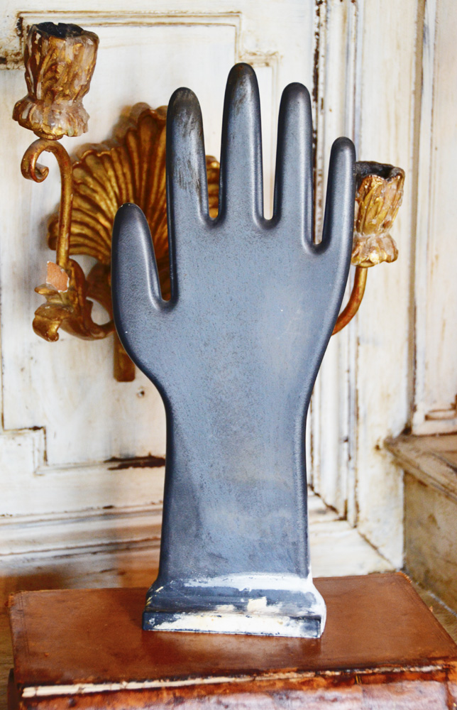 Antique Glove Mold/ Chalkboard Hand