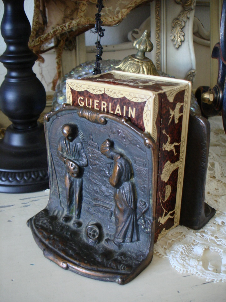 C 1900s French Pair Figural Bookends-