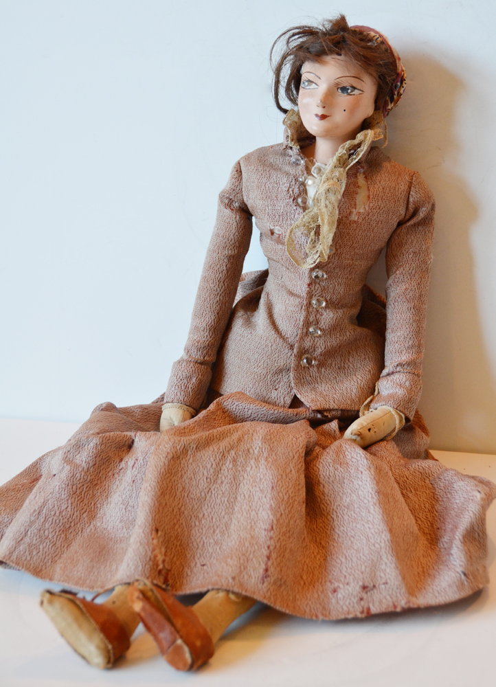 Rare French Boudoir Doll Antique 1920s-