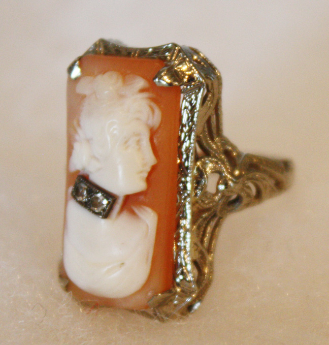 Fine Antique Edwardian Cameo Ring-