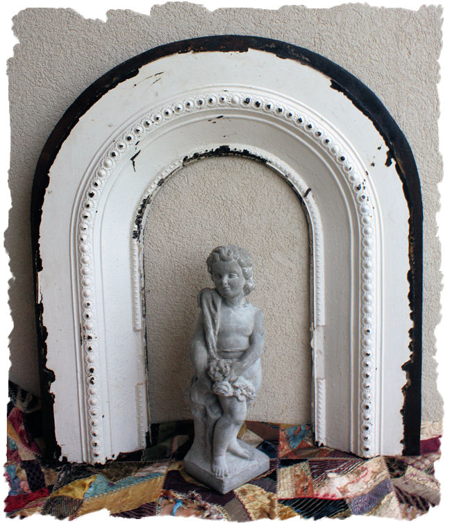 Antique 1800s Rare Arched Cast Iron Architectural Frame
