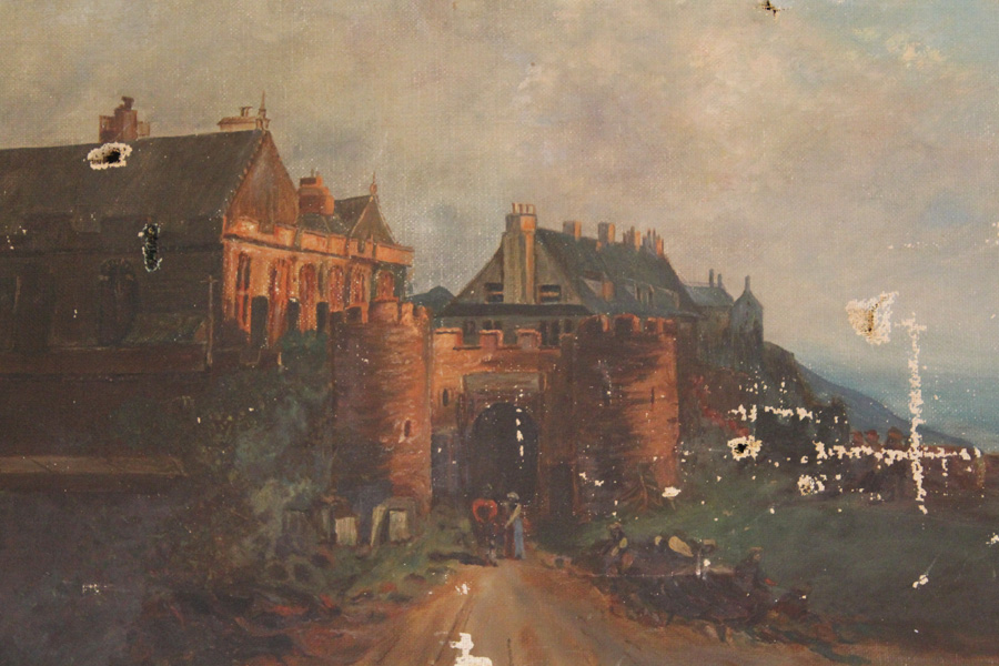 Wonderful Early 1900s Architectural Painting Castles