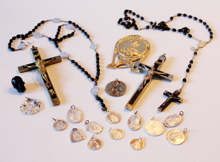French Collection of Antique Crosses & Relics-