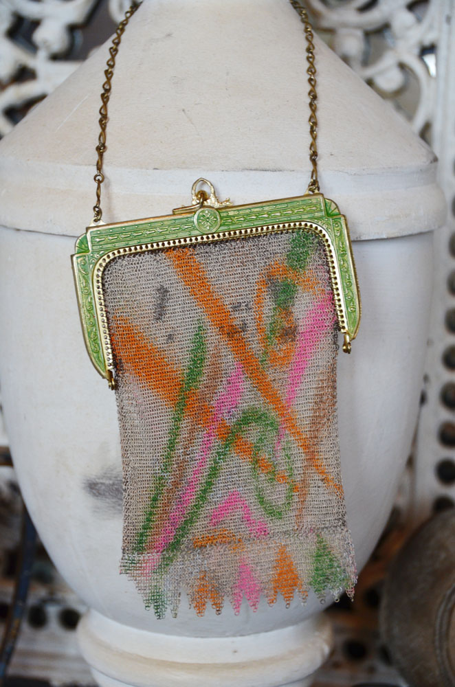 Antique Flapper Multi Color Purse-