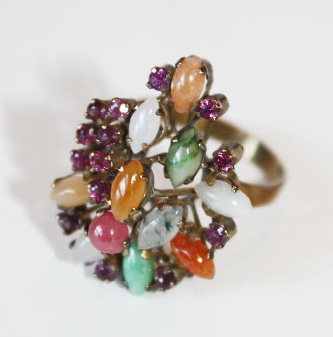 Rare 14k Specimen Ring Antique-