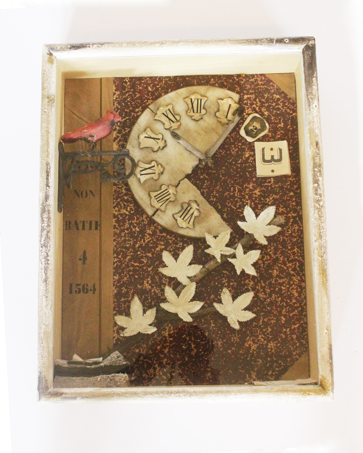 Vintage Altered Art Collage Curio Wooden Box Amazing-