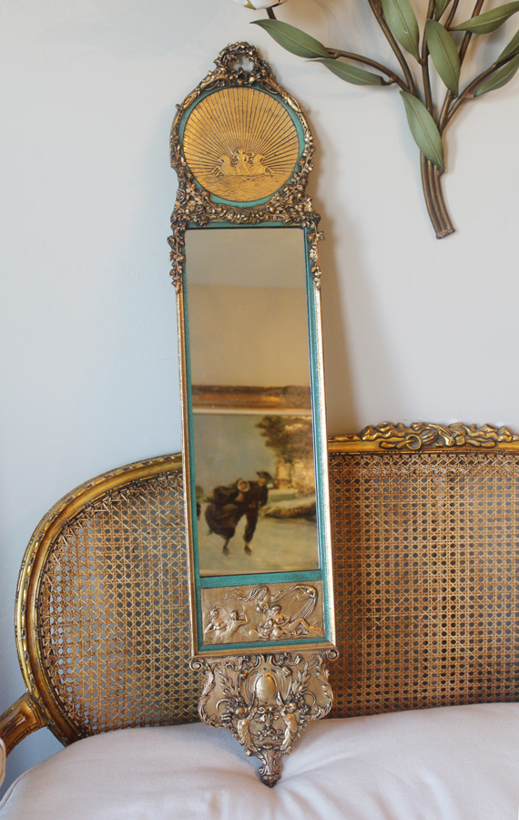 Antique Incredible Barbola Ornate Gilt Mirror-