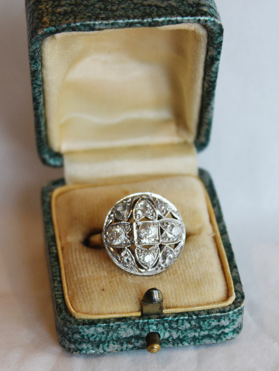 Antique Art Deco 2.25 Diamond Ring