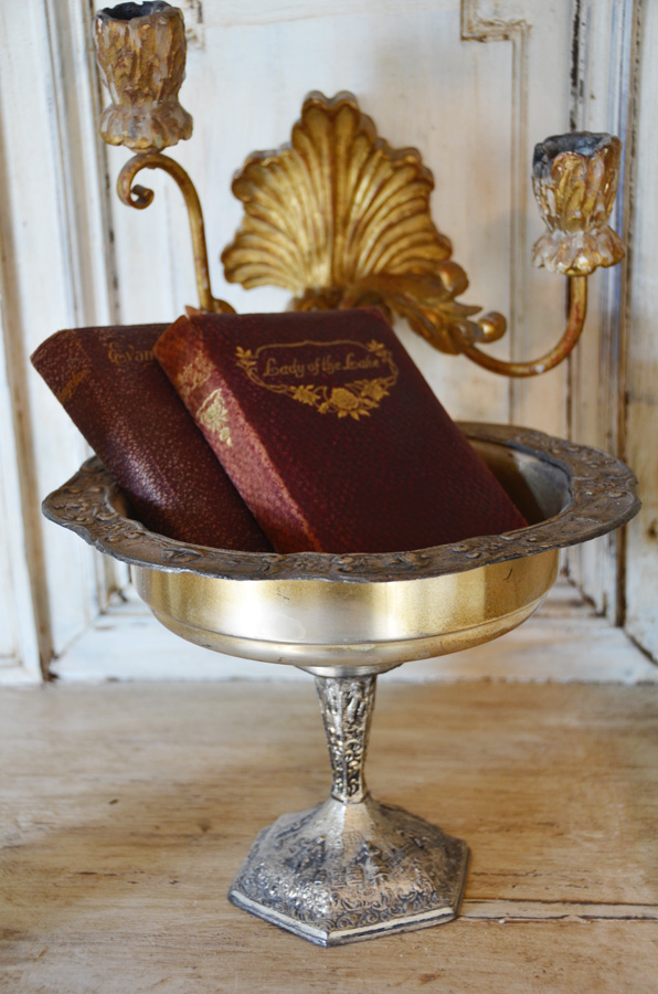Antique Dutch Silver Figural Compote-