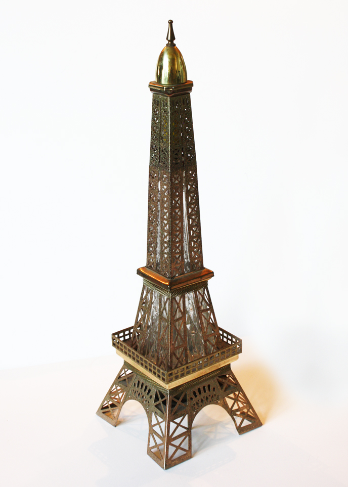 Rare Antique Eiffel Tower Music Box/Decanter BarWare