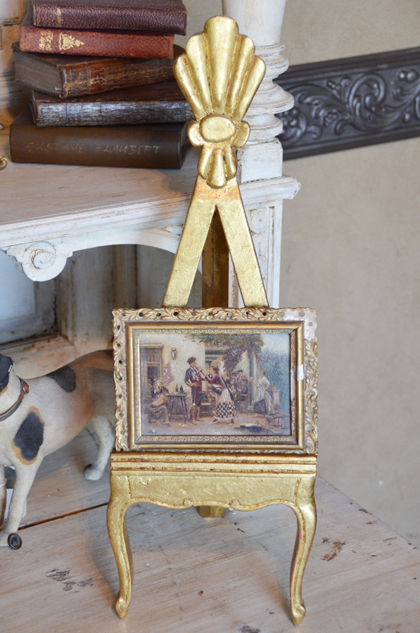 Antique Italian Florentine Table Easel Gilt Wood-