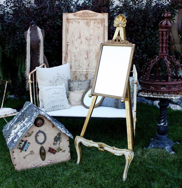 Rare Italian Gilt Florentine Floor Easel Antique-