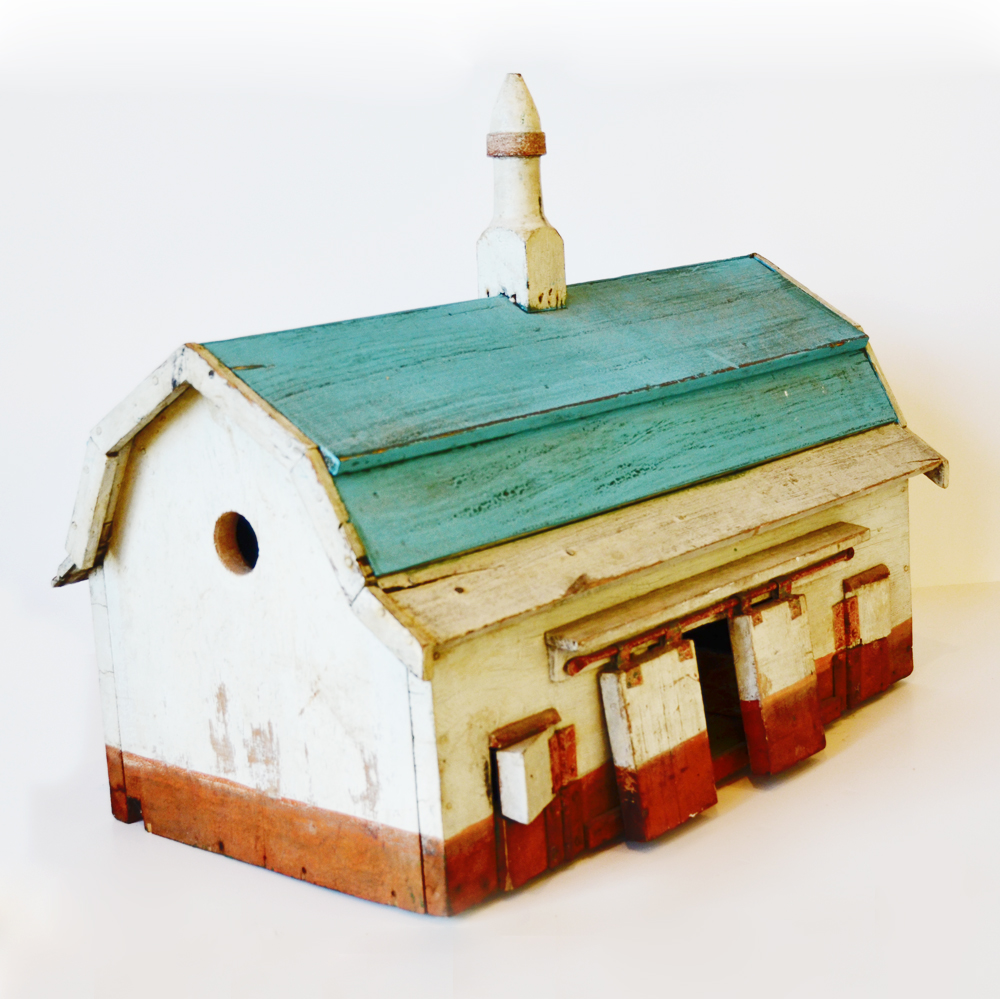 Antique Folk Art Rare Original Barn BirdHouse