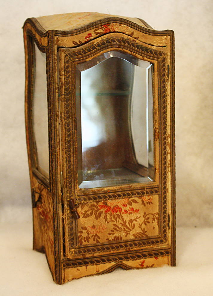 19th C. French Vitrine Sedan Box Rare-