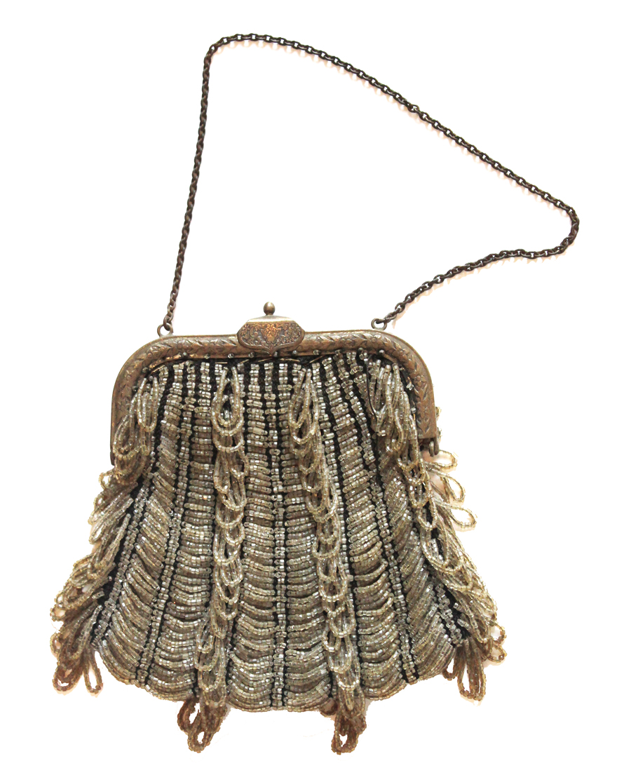 Beautiful French Sead Bead Flapper Purse 1900s-